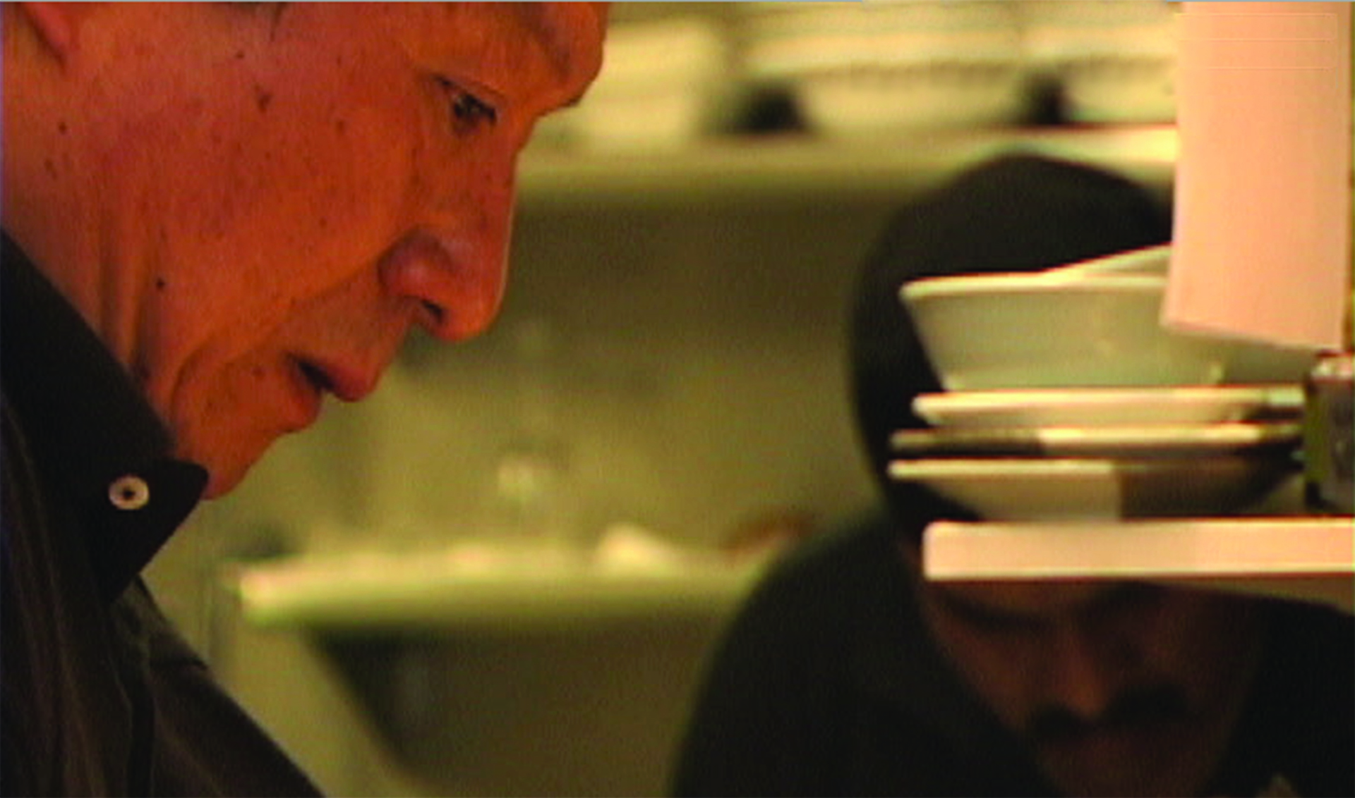 Master Chef Hiroji Obayashi in the kitchen